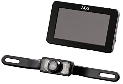 AEG Automotive 97153-radiowa kamera cofania-system RV 4.3, z kolorowym wyświetlaczem LCD w zestawie funkcja widzenia w nocy i szyfrowanie 97153