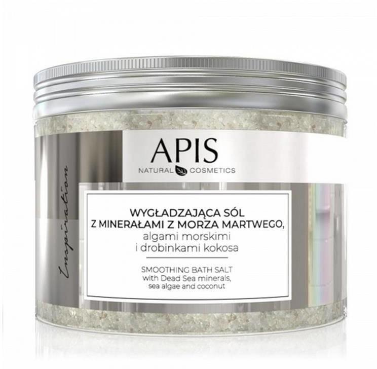 Apis inspiration, wygładzająca sól do kąpieli z minerałami z morza martwego, algami morskimi i drobinkami kokosa, 650 g P133772