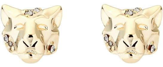 top Karen Millen Leopard Stud Earrings KMJ1277-30-23
