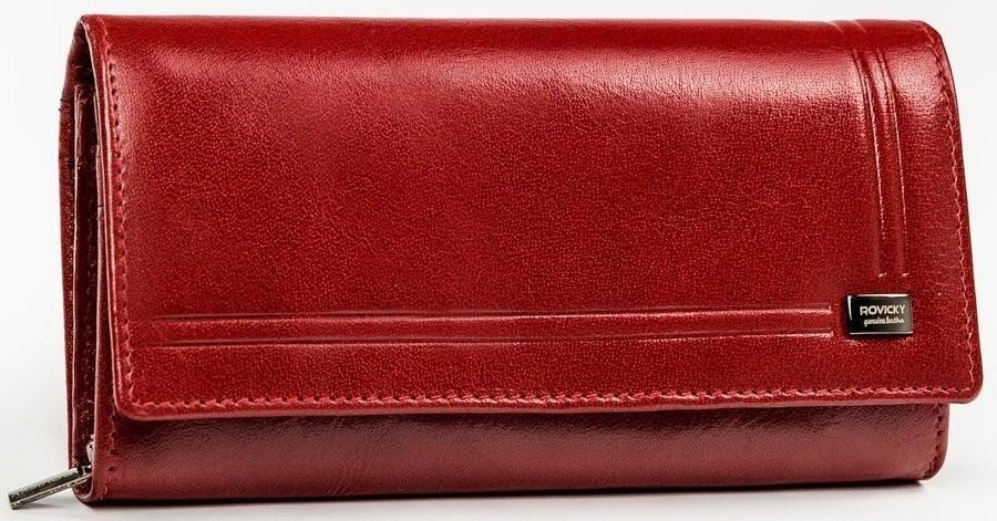 Rovicky Duży portfel damski z klapką z ochroną RFID
