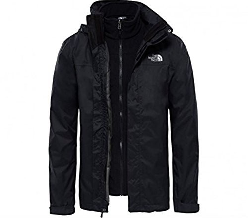 The North Face Evolve II Triclimate podwójna kurtka męska, T0CG55, czarny, xxl T0CG55JK3. XXL