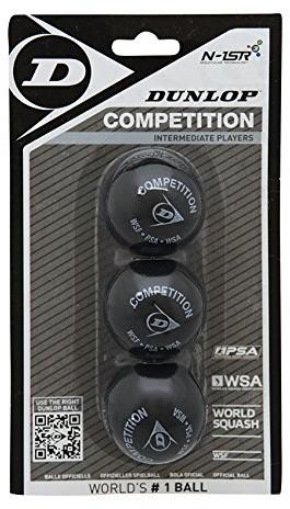 Dunlop Competition Squash ball (-częściowy zestaw), czarny, 1 rozmiar 700113