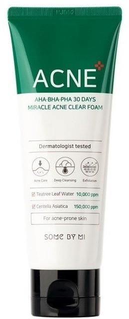 Some By Mi AHA/BHA/PHA 30days Miracle Foam Pianka oczyszczająca do twarzy 100ml