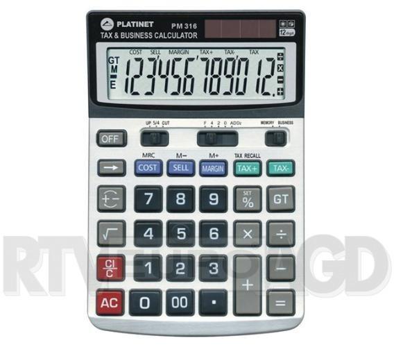 Platinet Kalkulator PM316 12D TAX MAR 40470