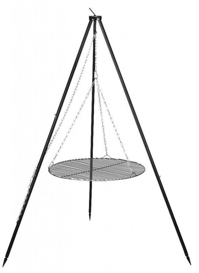 Farmcook Grill ogrodowy na trójnogu z rusztem ze stali nierdzewnej 60 cm