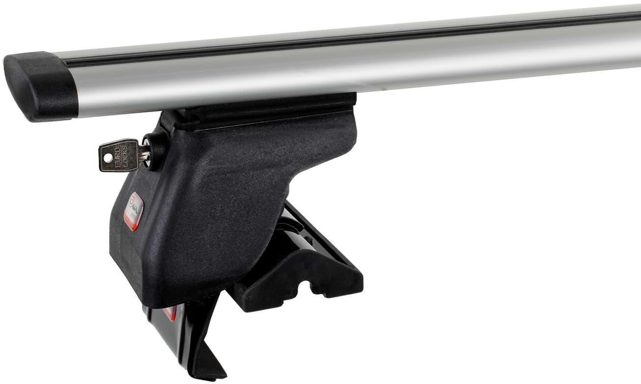 Amos Bagażnik bazowy na dach belki aluminiowe 1.2 Dynamic łapy Dromader D1 ZABEZPIECZENIE 1400-uniw