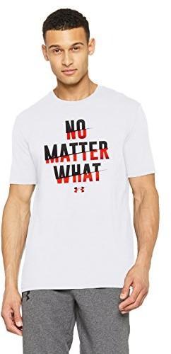 Under Armour koszulka męska No Matter What SS z krótkim rękawem, biały, MD 1305664-100