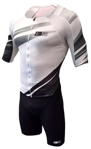 ZEROD strój triathlonowy TT SUIT biało-czarny