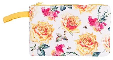 Ashdene Kosmetyczka Bawełniana Ashdene The Roses Róża Tango Yellow Biała