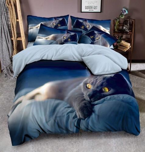 Cotton World Pościel 3D - Śpiący Kotek - 140x200 + Jasiek KPM - 113