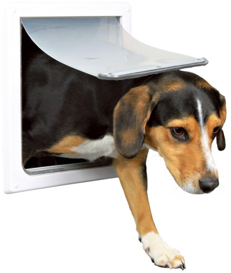 TRIXIE TRIXIE Drzwiczki dla psa z 2 formami zamknięcia S-M 30x36 cm białe 3878