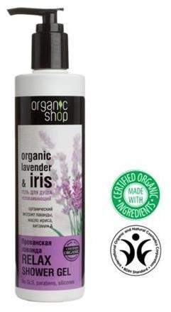 Organic Shop Lavender & Iris Calmin Shower Gel relaksujący żel pod prysznic z olejkiem z lawendy i ekstraktem z irysa 280ml 42945-uniw