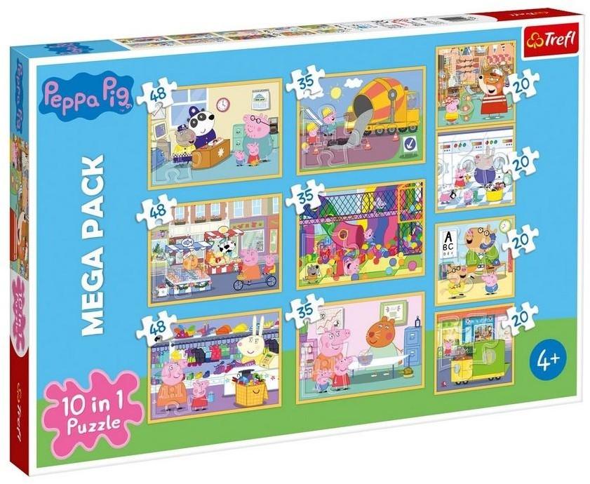 Trefl Puzzle Świnka Peppa Zestaw 10w1 90358 90358