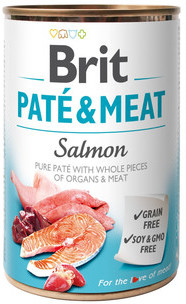 Brit pate & meat salmon 400 g DARMOWA DOSTAWA OD 95 ZŁ!