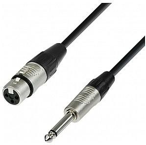 Adam Hall Cables 4 Star Series - Microphone Cable REAN XLR żeński / 6.3 mm Jack mono 10.0 m przewód mikrofonowy K4MFP1000
