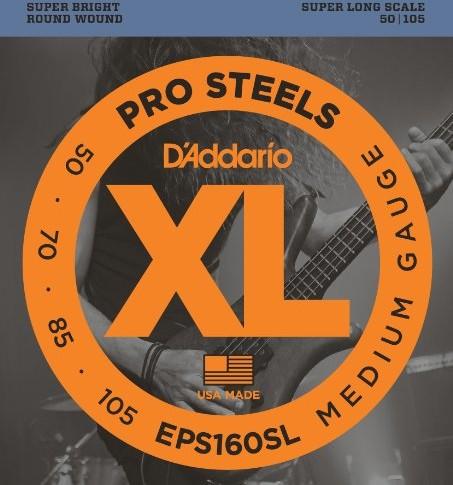 D'Addario EPS160SL Bass komplet strun 0,127cm0,27cm (.050.105cala) EPS160SL