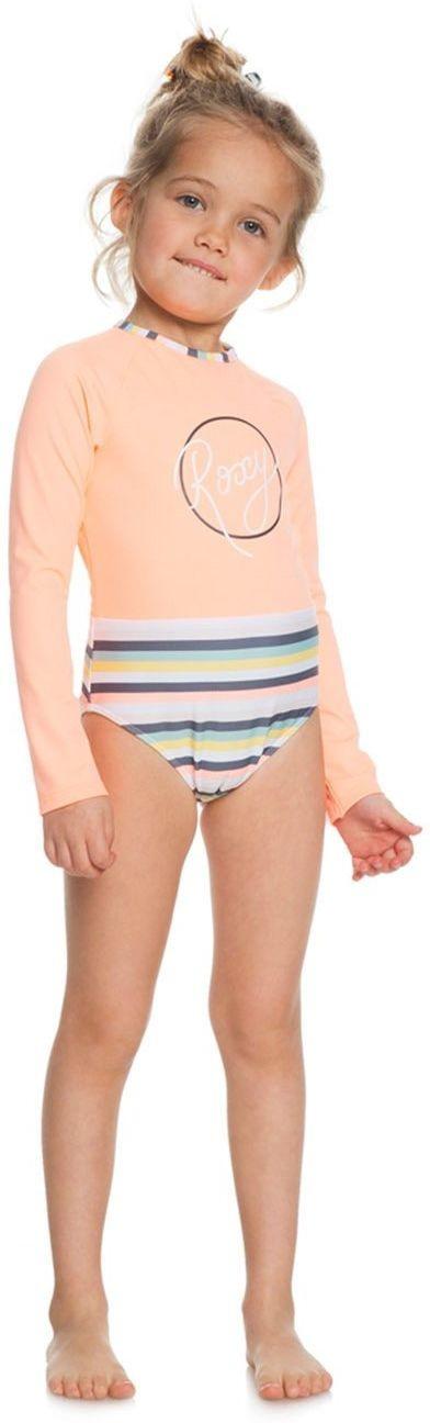 Roxy strój kąpielowy jednoczęściowy dla GIRL LETS GO SURFING Salmon Candy Stripes MFG3