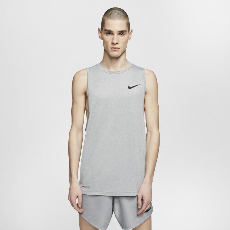 Nike Męska koszulka treningowa bez rękawów - Szary CJ4631-084