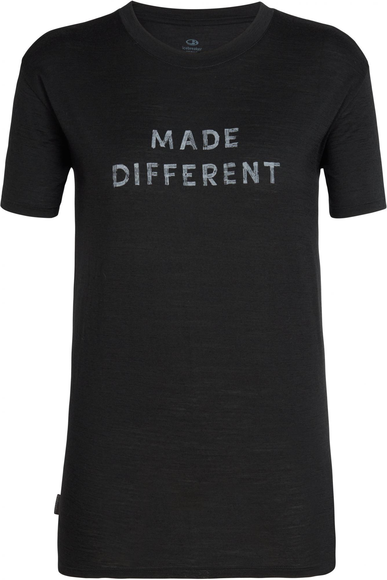 Icebreaker koszulka damska Wmns Tech Lite Ss Crewe Made Different Black XS