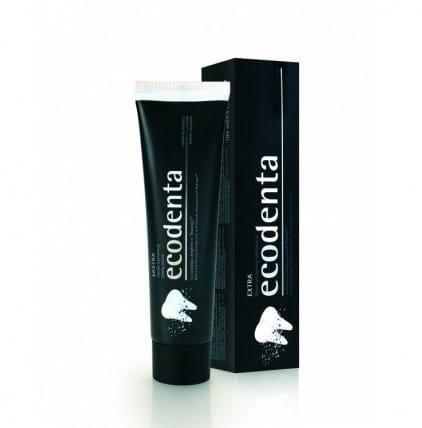 Ecodenta Ecodenta Extra Czarna pasta do zębów wybielająca z węglem drzewnym 10ml MINI