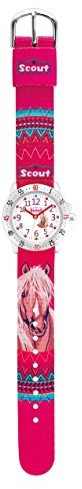 Scout dziewczęcy zegarek na rękę analogowy kwarcowy Textil 280378071 280378071