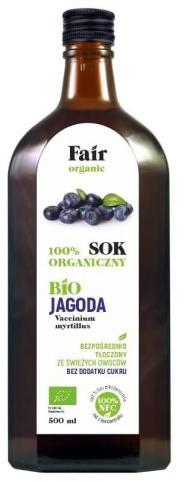 Bio FAIR ORGANIC (soki) Sok z jagody nfc 500 ml - fair organic BP-5907714380051