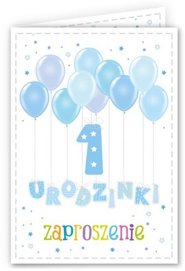 Opinie o  Zaproszenie na roczek 1 urodzinki niebieskie 1 szt. ZX6908