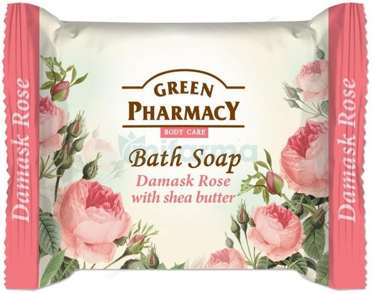 Green Pharmacy mydło w kostce Róża Damasceńska i Masło Shea 100g