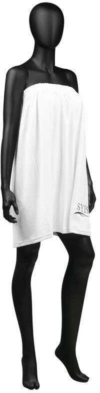 SYIS Syis peleryna gruba frotte biała z logo P115723