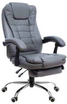 GIOSEDIO Fotel konferencyjny GIOSEDIO brązowy FBK011 z podnóżkiem rozkładane oparcie FBK011