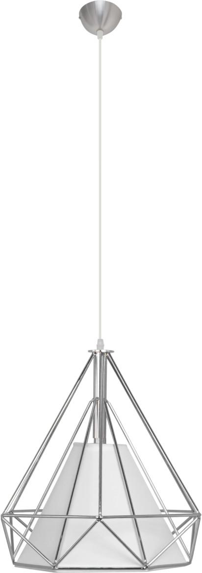 ELEM Lampa wisząca PIRAMIDA 1M ELEM styl skandynawski metal pcv tkanina chrom 8802/1 ZWIS 05