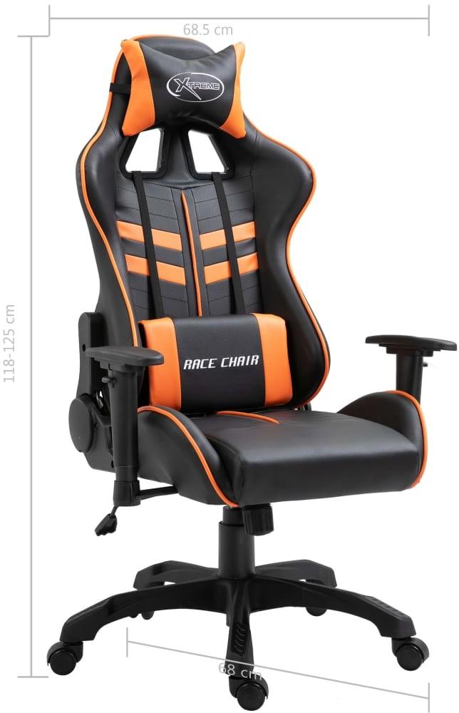 vidaXL vidaXL Fotel dla gracza, pomarańczowy, PU
