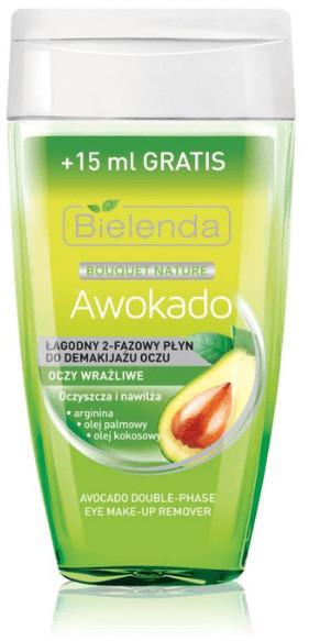 Bielenda Awokado - Łagodny dwufazowy płyn do demakijażu oczu 125ml