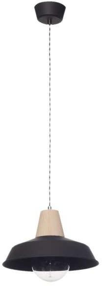 Inne LAMPA wisząca LAMP 590/Z CZA/DREW metalowa OPRAWA zwis w stylu skandynawskim czarny LAMP 590/Z CZA/DREW