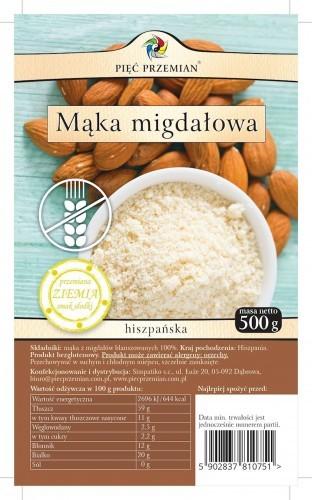 Pięć Przemian Mąka Migdałowa bezglutenowa 500g -