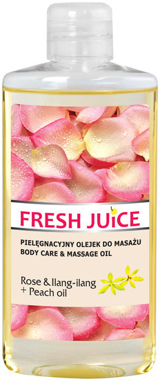 Fresh Juice Fresh Juice Rose & Ilang Ilang + Peach oil pielęgnacyjny olejek do masażu 150ml