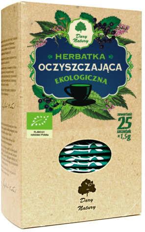Dary Natury Ekologiczna herbatka Oczyszczanie 25 x 1,5 g