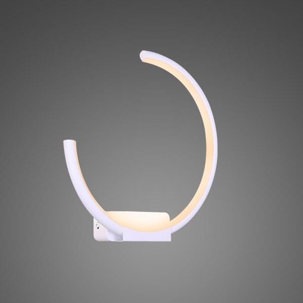 Altavola Design Kinkiet Ledowe Okręgi no 1 moon in 4k biały