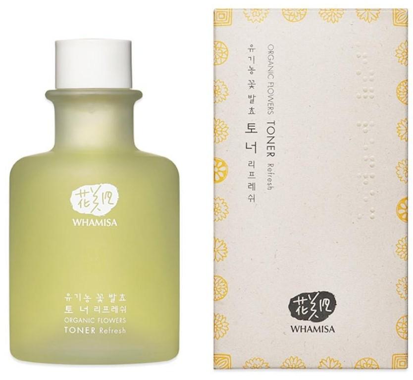 Organic WHAMISA WHAMISA Pielęgnacja twarzy Odświeżający toner dla cery mieszanej i tłustej Flowers Toner Refresh 155.0 ml