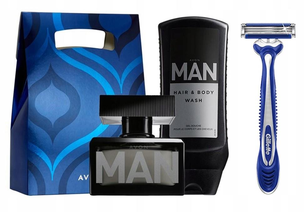 Avon Man Zestaw Dla Niego +gillette Blue Comfort