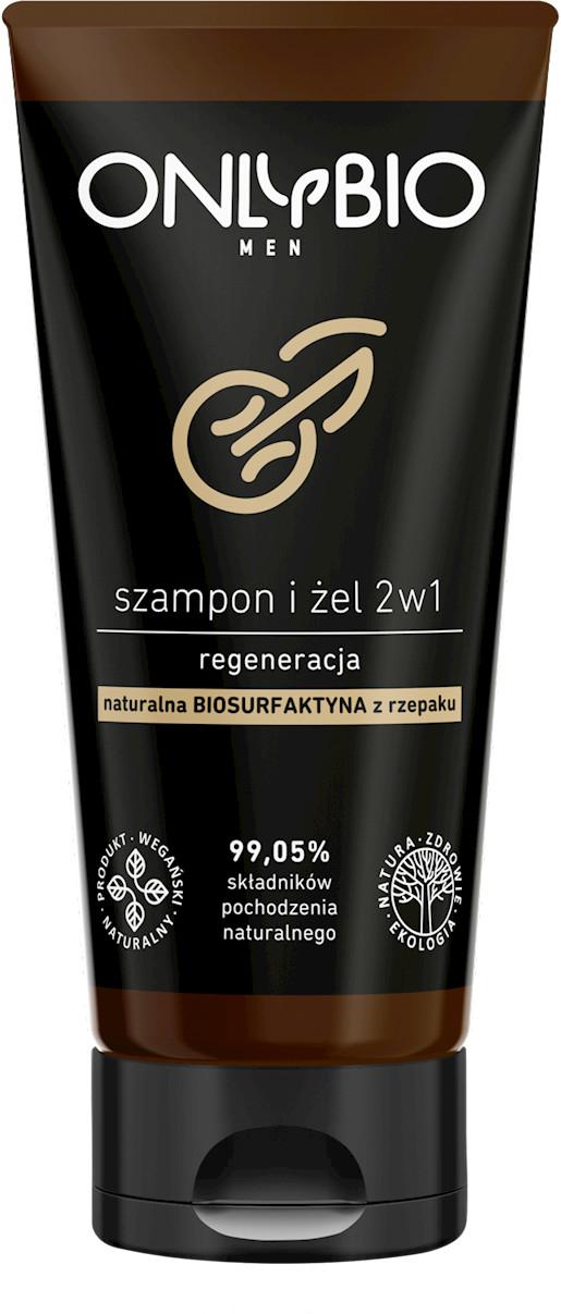 Bio ONLY SZAMPON I ŻEL 2w1 REGENERACYJNY DLA MĘŻCZYZN TUBA 200 ml - ONLY