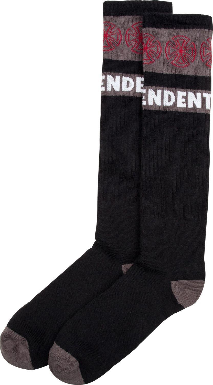 INDEPENDENT skarpetki INDEPENDENT WOVEN CROSSES SOCKS 1 Pack) Black