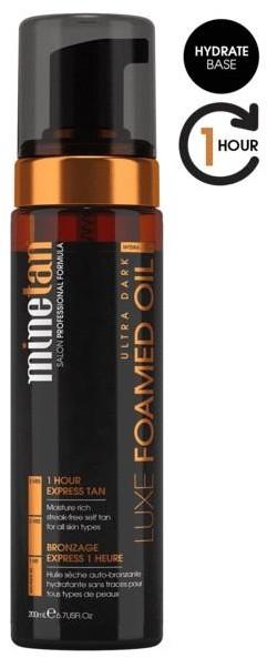 MineTan MineTan Luxe Foamed Oil luksusowy olejek samoopalający w piance Super Dark 200ml