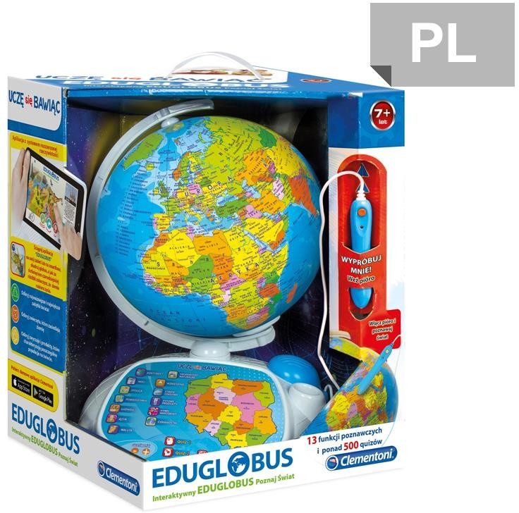 Clementoni Poznaj świat. Interaktywny Globus Eduglobus 60444