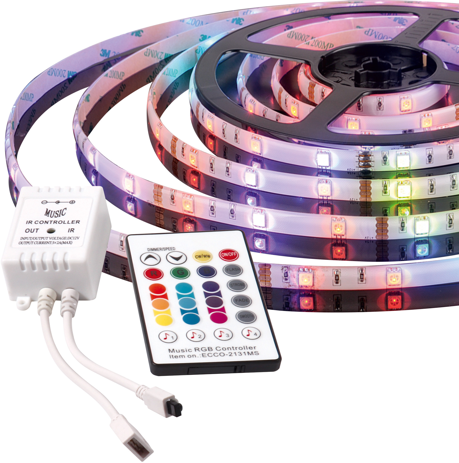 ActiveJet Taśma muzyczna LED AJE-LED Music Stripe RGB Multikolor