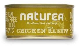 Naturea Bezzbożowa karma dla kotów i kociąt 80g puszka Kurczak z królikiem