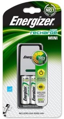 Energizer Ładowarka + akumulatory Mini Charger +2AA 2000 mAh  +2AA