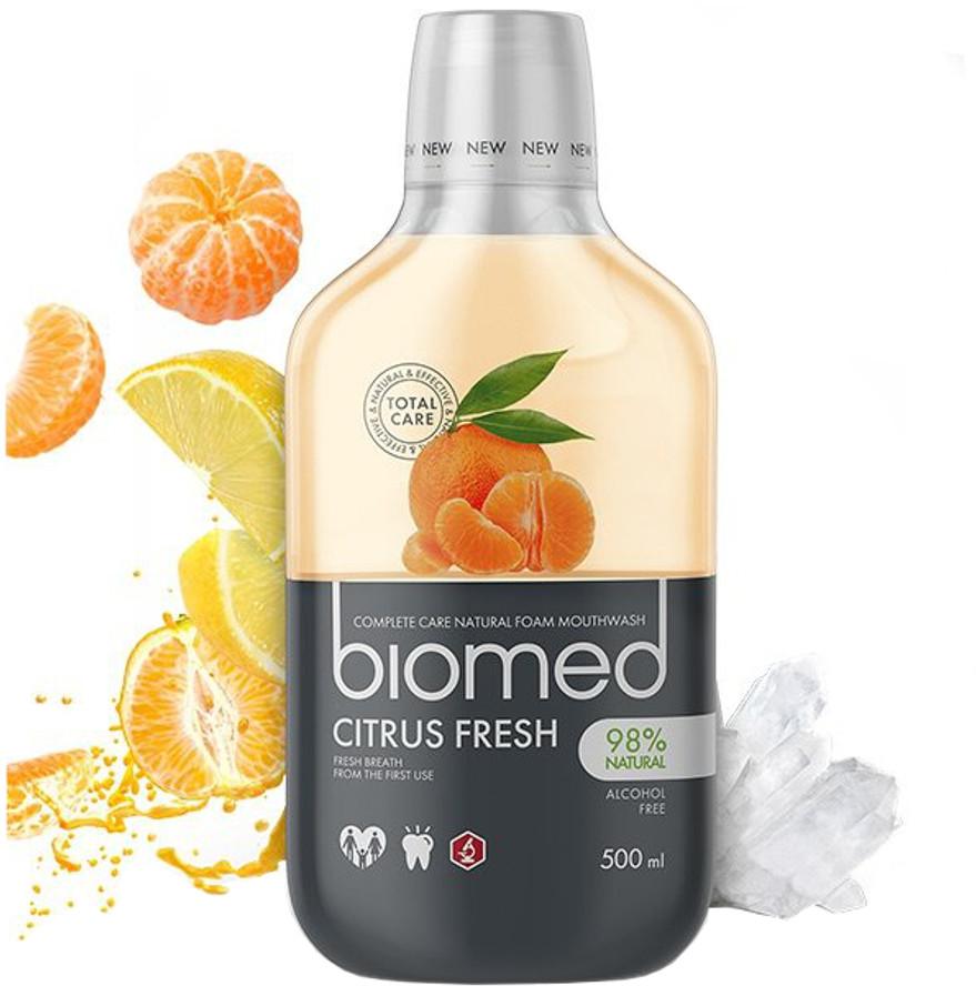 Splat Kosmetica BIOMED Citrus Fresh 500ml - płyn do płukania jamy ustnej z naturalnymi ekstraktami z cytrusów