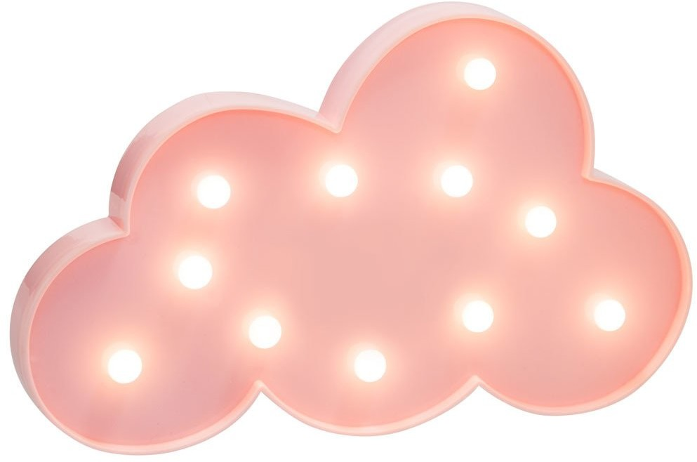 Atmosphera Lampa ledowa dla dziecka Chmurka LED kolor różowy 158496A-pink