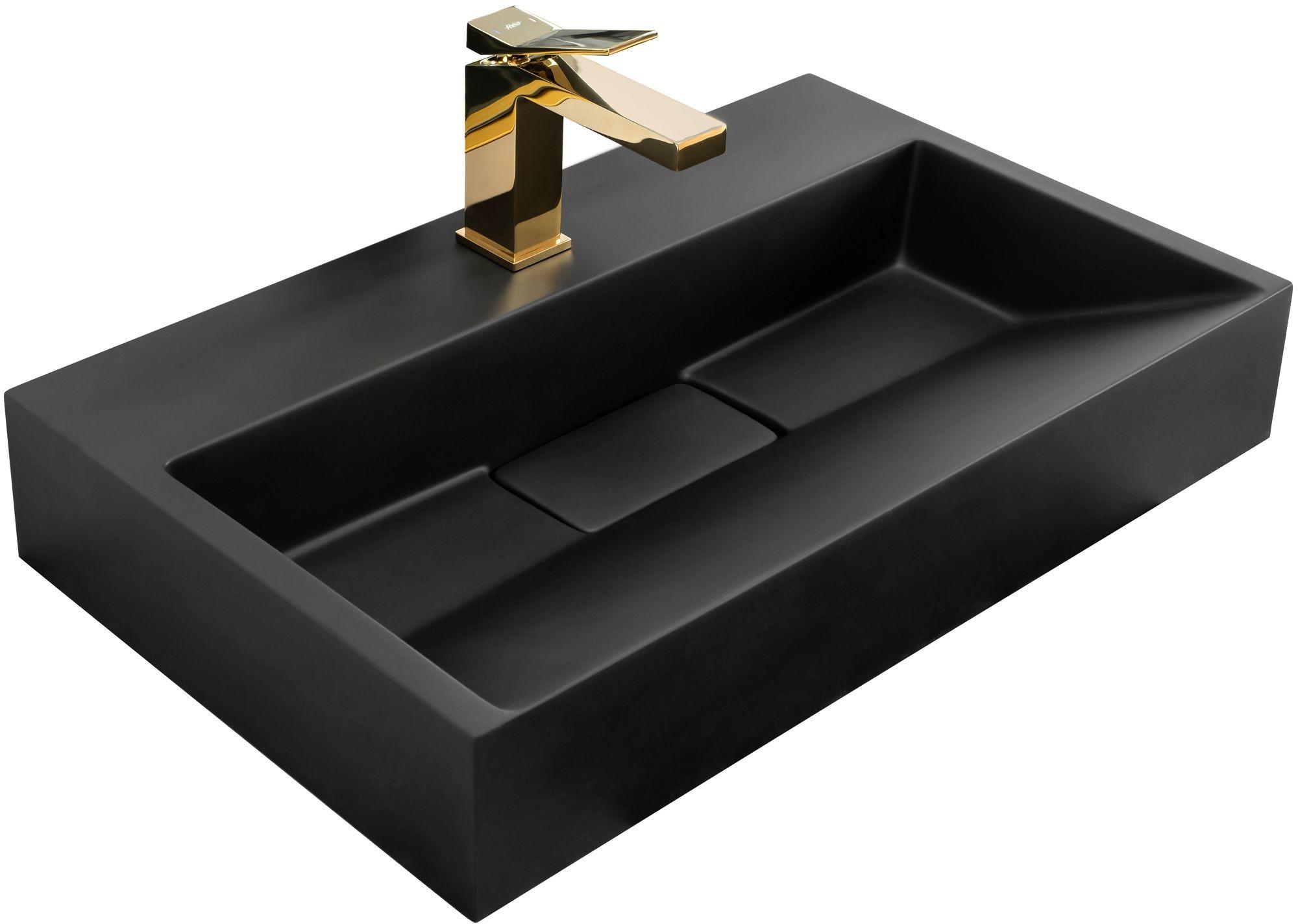 Rea UMYWALKA KONGLOMERATOWA NABLATOWA GOYA BLACK MAT 60CM U8779